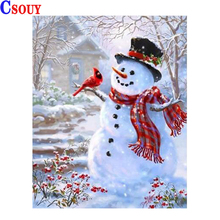 diamond embroidery beauty girl mosaic crystal 5d cross stitch full square drill diamond painting diy sticker decor paintings Snowman Brid 5D Diy Diamond Embroidery Beauty Diamond Mosaic Drawing Full Square Round Drill Diamond Painting Cross Stitch Decor