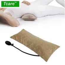 Tcare almohada inflable de aire portátil multifuncional para el dolor de espalda inferior, cojín ortopédico de soporte Lumbar, viajes, cintura, rodilla