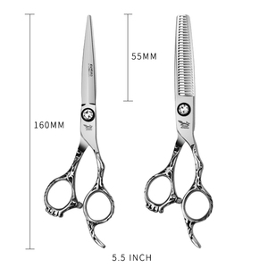 Image 5 - Japan Steel 5.5 6.0 Professional Hairdressing Scissors Hair Professional Barber Scissors Set Hair Cutting Shears Scissor Haircut