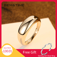 Gem&Time Real 14K Gold Engagement Ring For Women Korean Genuine Gold 14K 585 Ring Jewelry Promise Gold Ring Wedding Jewelry