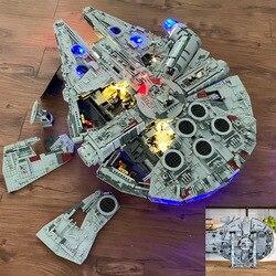 Millennium série star wars falcon blocos de construção kit 81085 navio destruidor modelo brinquedos para crianças presentes conjunto tijolos 05132