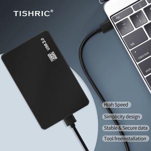 TISHRIC Hdd чехол для жесткого диска с 2,5 дюймов Hdd корпус жесткого диска SATA USB 3,0 адаптер 8 ТБ футляр для внешнего жесткого диска чехол Корпус для жесткого диска