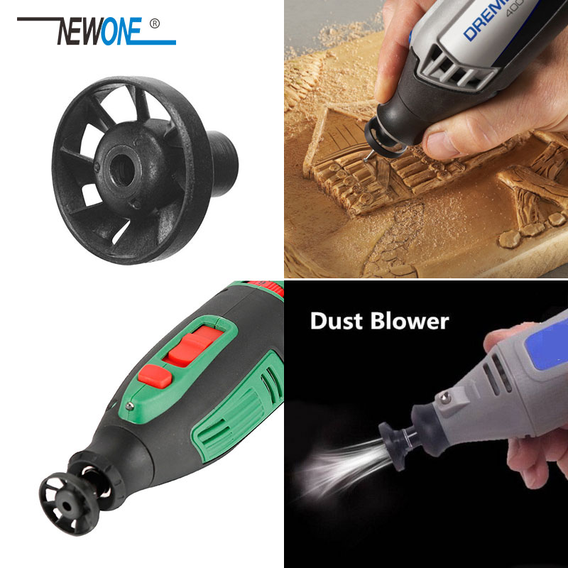 Black Dust Blower Fan For Rotary Tools Thread