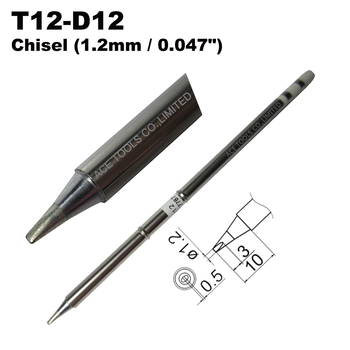 T12-D12 Screwdriver 1.2mm Soldering Tip for HAKKO FX-951 FX-950 FX-952 FX-9501 FM-2028 FM2027 Iron Handle Pencil Bit Replacement image