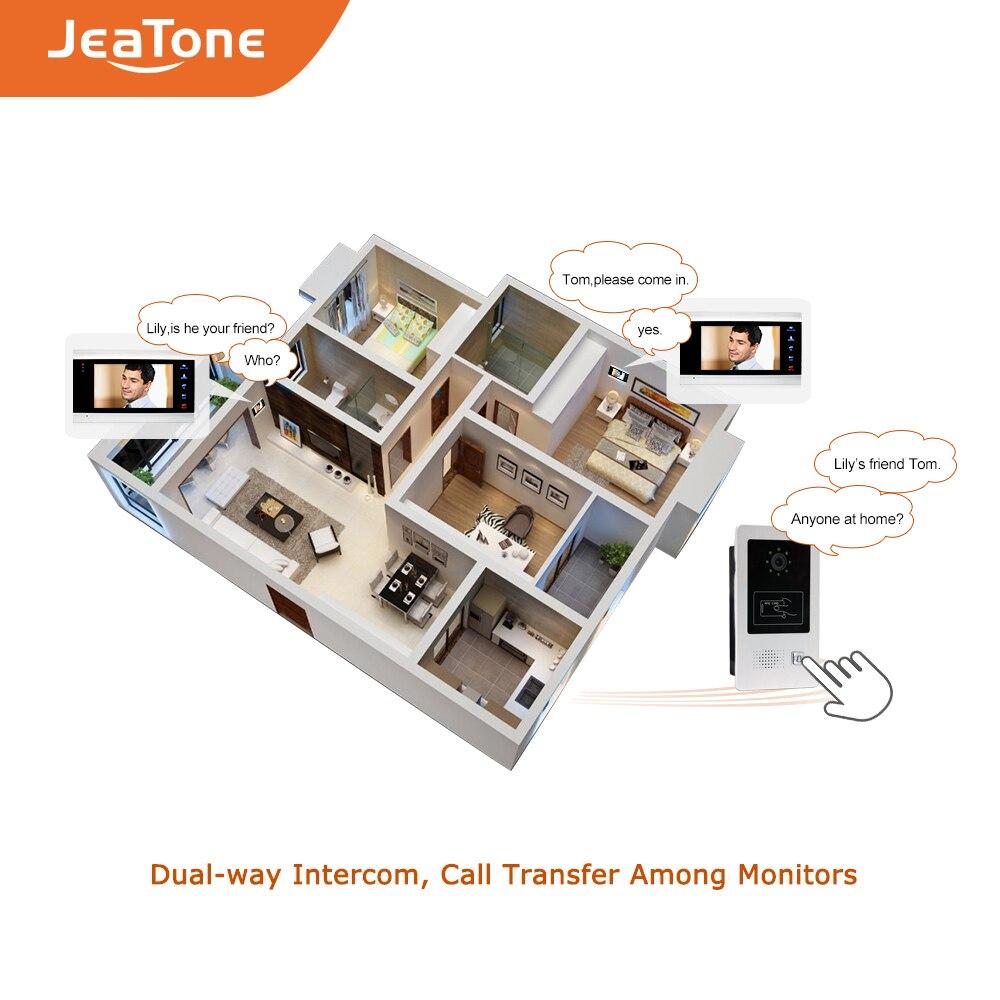 "Купить с кэшбэком 7"" Video Door Phone Doorbell Video Intercom System Security Access Control Kits Waterproof Wide View Angle Call Panel RFID Card"