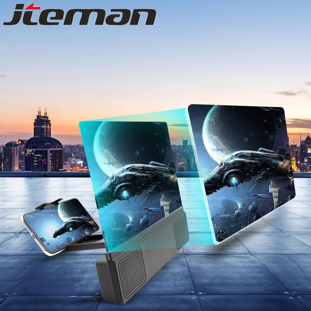3D Phone Screen Amplifier Universal 12 Inch Foldable Mobile Phone Screen Magnifier With Wired Speaker Tela De Cinema Amplifier