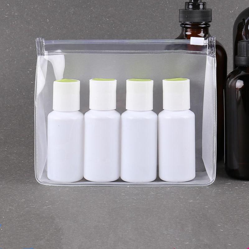 Women Clear PVC Cosmetic Bag Transparent Travel Toiletry Shower Gel Shampoo Bottle Bags Female Makeup Organizer Cases Pouch