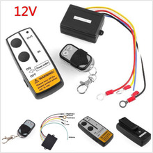 1set 12V Long Range Wireless Remote Control Kit for Truck Jeep Car ATV New Winch Switch Waterproof Accessorie