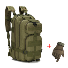 Tactical-Backpack Molle Military Outdoor with Full-Finger-Gloves Water-Resistant Camping