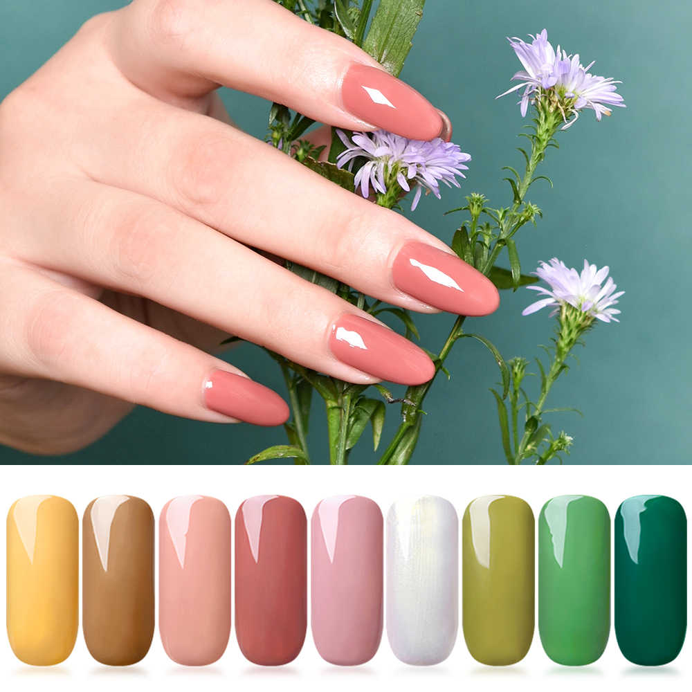 7 Ml Nail Gel Polish UV Gel Nail Polish Murni Warna Kuku Lukisan Tips Top Coat SOAK Off Nail Art gel Varnish Manicure Lacquer