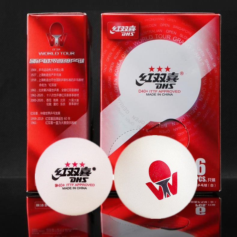 DHS 2019 Latest ITTF WORLD TOUR 3-Star Table Tennis Balls  D40+ Special Version 3 Star Seamed ABS Plastic Ping Pong Balls