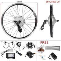 Electric Bicycle conversion kit 36V 250W 20'' front hub motor wheel brushless gear e bike conversion kit e bike engine kit