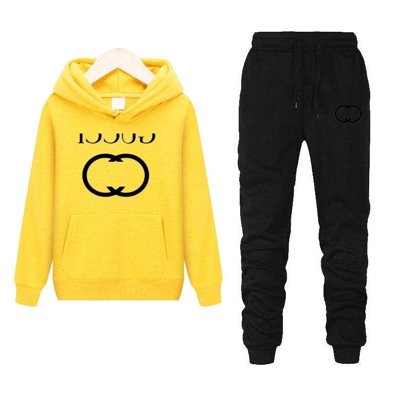 Men's Cotton Sweater Suit Spring And Autumn New Hip Hop Trend Loose Hoodie Sweater Business Casual Hoodie