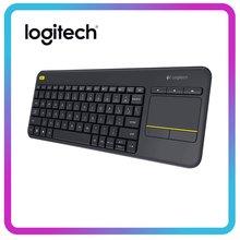Logitech K400 artı kablosuz dokunmatik klavye PC için Touchpad ile dizüstü Android akıllı TV HTPC ev ofis oyun klavyesi