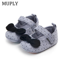 New Baby Girl Shoes Newborn Infant First Walker Cottoon Sofe Sole Princess Bowknot Fringe Toddler Baby Crib Shoes