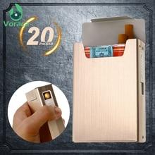 2 в 1, чехол-портсигар из алюминиевого сплава с USB-зарядкой