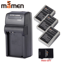 Mamen 3pcs BLN 1 BLN1 PS BLN1 Rechargeable Digital Camera Battery + Single DC Charger For OLYMPUS E M5 EM5 OM D Batteries Pack