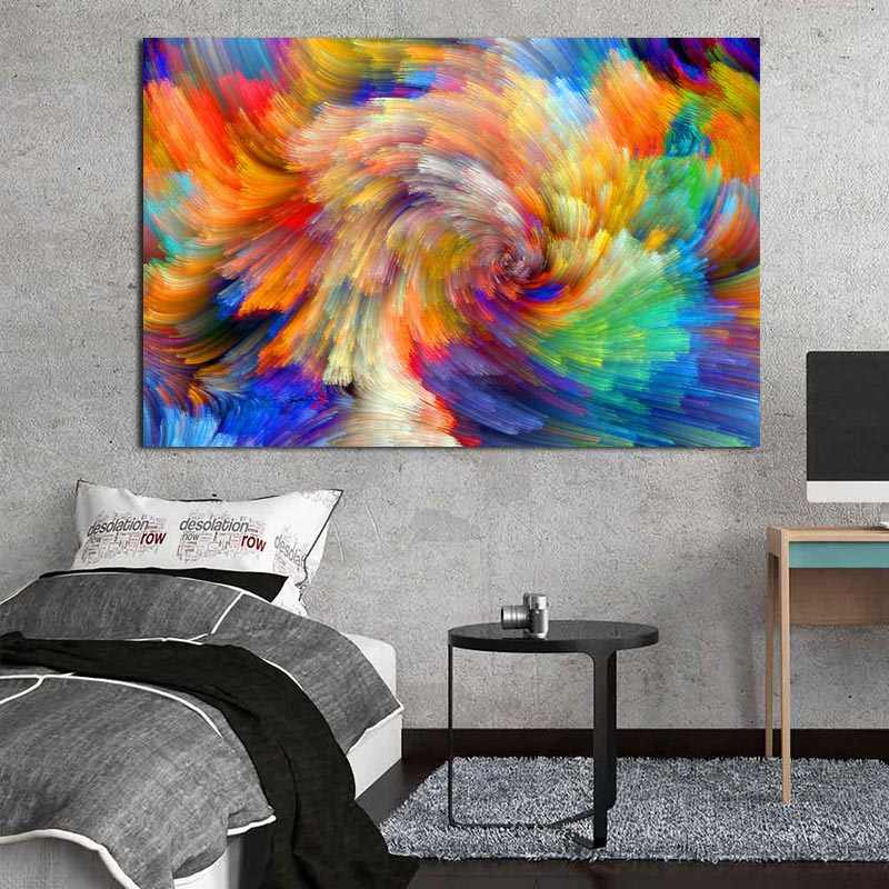Modern Canvas Painting Colorful Clouds Abstract Art For Living Room,Bedroom Wall Pictures Canvas Prints And Poster Decoration