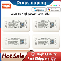 Tuya Zigbee 3,0 Smart Streifen Licht Fahrer Erträglich RGB RGBW LED Streifen Controller DC12V APP Control Kompatibel Mit Alexa Google