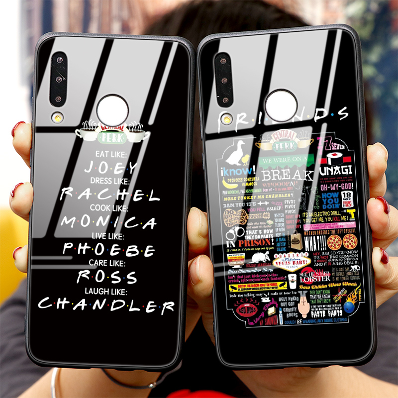 Coffee Friend Tempered Glass Case For Huawei Honor Note 10 View P40 Mate 30 20 20X P30 P20 Y6 Y9 2018 P Smart Lite Pro 2019 Case