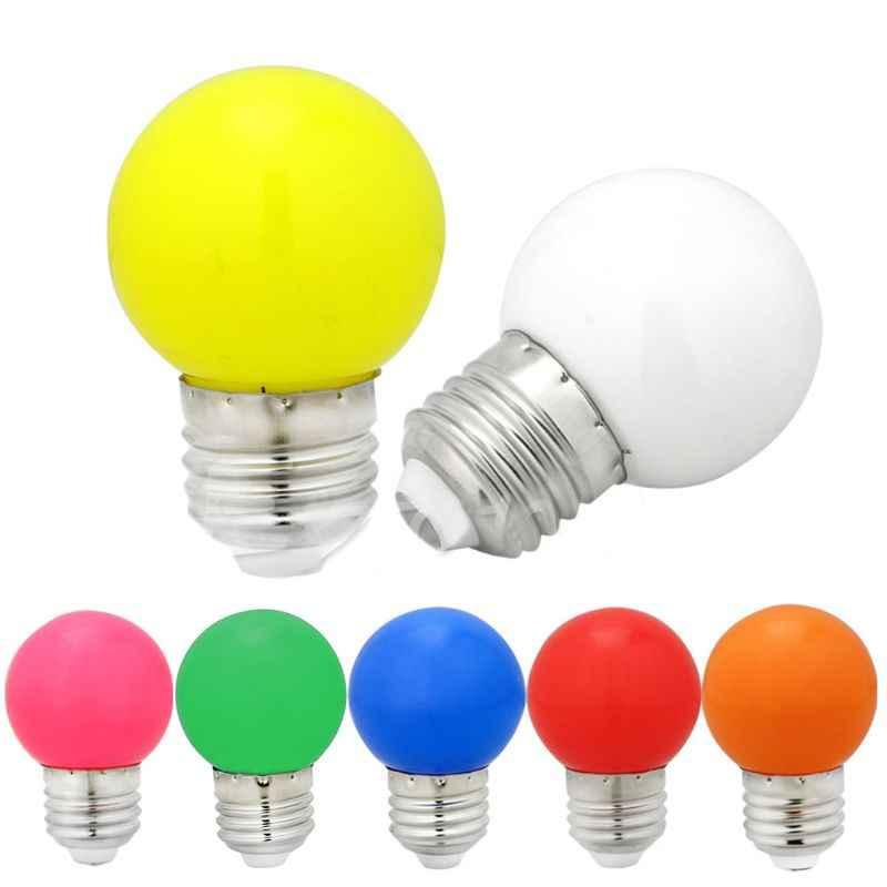 1W E27 mini LED Golf Ball Bulb Globe Light in Blue, Red, Green, Yellow,White