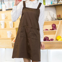 New Cotton Aprons фартук Canvas Pockets Baking Chefs Kitchen Cooking Apron кухонный With Hat Household Merchandises