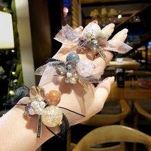 Милый диапазон волос головные уборы кольцо женщин оголовье двойной-использовать браслет