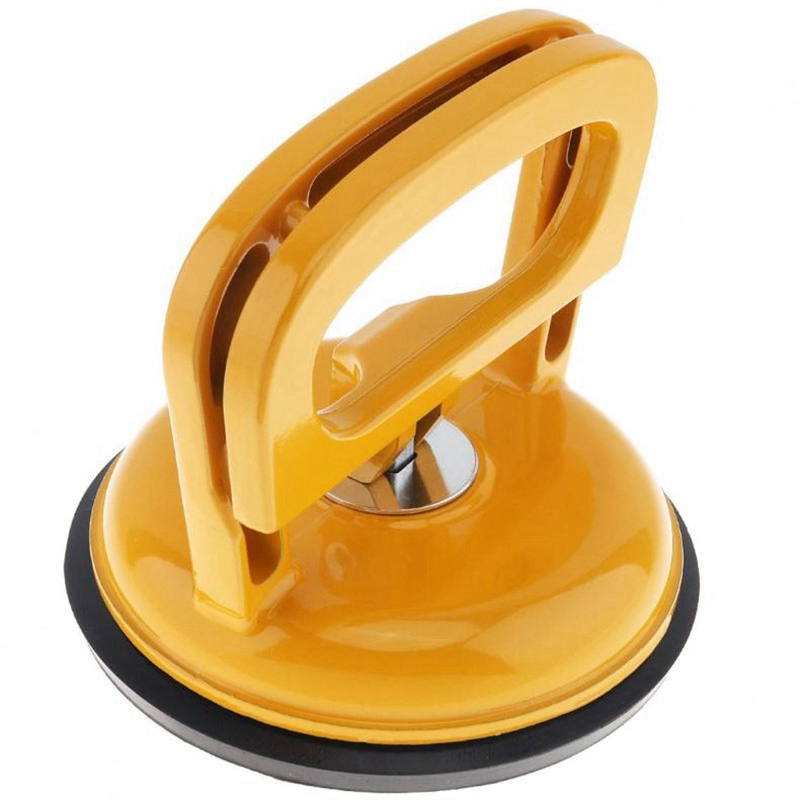 Top-Aluminum Alloy Single Claw Vacuum Sucker With Rubber Suction Pad And 2 Clip Handles For Tiles Glass Lightweight Locking Sing