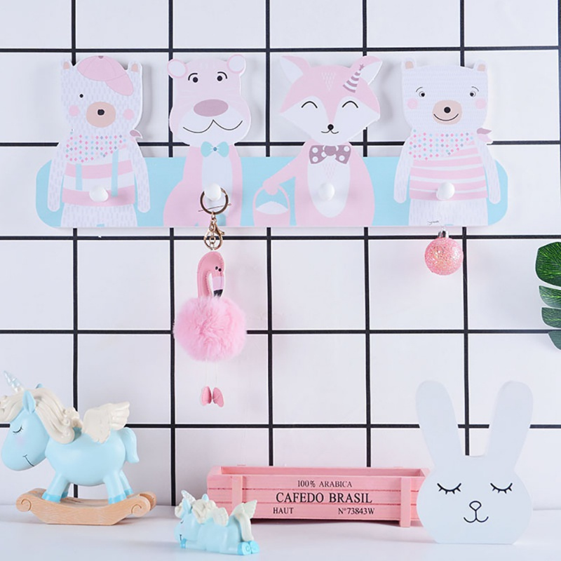 Children Room Hook Cute Concise Cloth Hat Hook Wall Mounted Rack Storage Rack Home Decoration