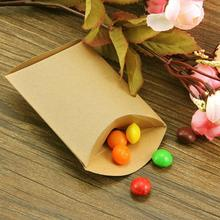 50Pcs Kraft Paper Rustic Gift Candy Boxes Packaging Bag Party Birthday