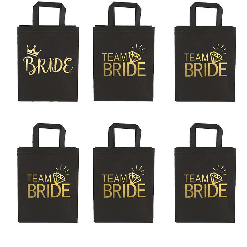 Команда Невесты, чтобы быть нетканые сумки подарки, свадебные украшения для жениха девичника вечерние девичника декор для ночи