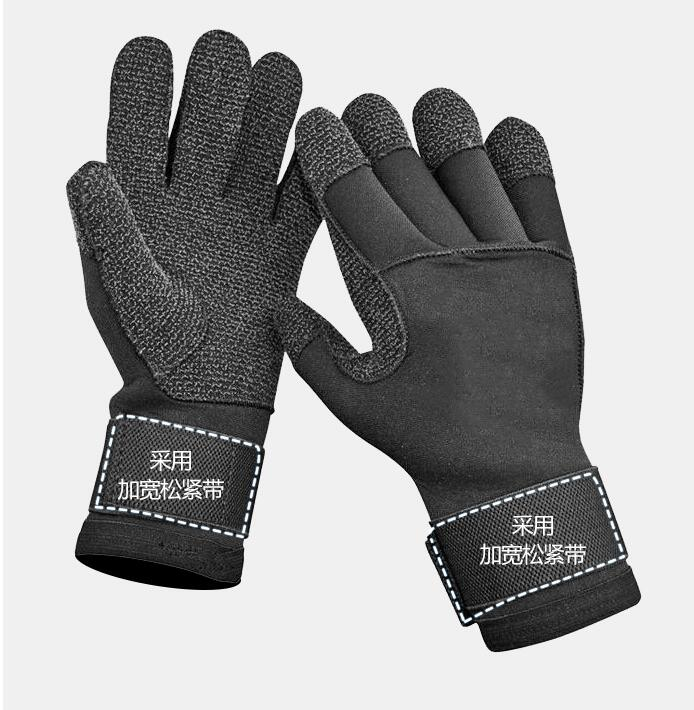 Kevlar Scratch Prevention Scuba Diving Gloves 3MM/5MM Men Neoprene Anti-skid Wear Resistant Gloves Fishing Skiing Hand Protect