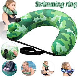 Портативный надувной пояс для плавания, плавательный круг, плавающая дорожная подушка для детей и взрослых H7JP