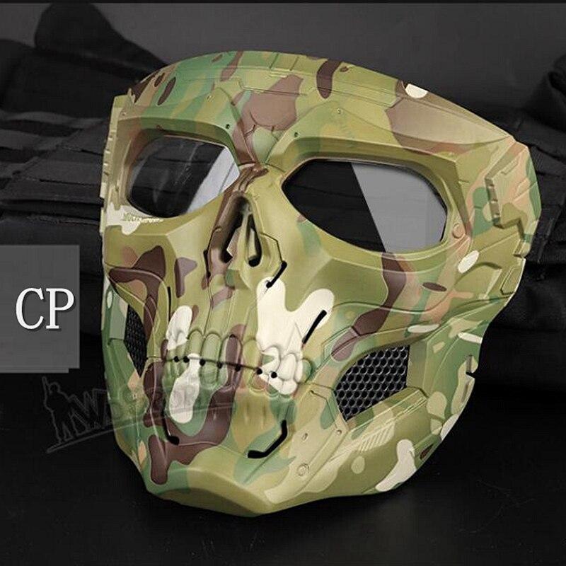 Новая тактическая страйкбольная маска с черепом, Пейнтбольная Военная Боевая полная защитная маска, скелет CS, игра, защитная маска для лица - Цвет: cp
