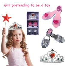 Children Princess Dress Up Simulation Cosmetics Jewelry Boutique Set For Girls(China)