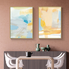 Nordic Canvas Painting Decoration Poster Print Abstract Yellow Picture Wall Art Living Room Bedroom Morden Office Home Decor abstract canvas painting poster print wall art nordic green gold lines picture for living room bedroom decoration home decor