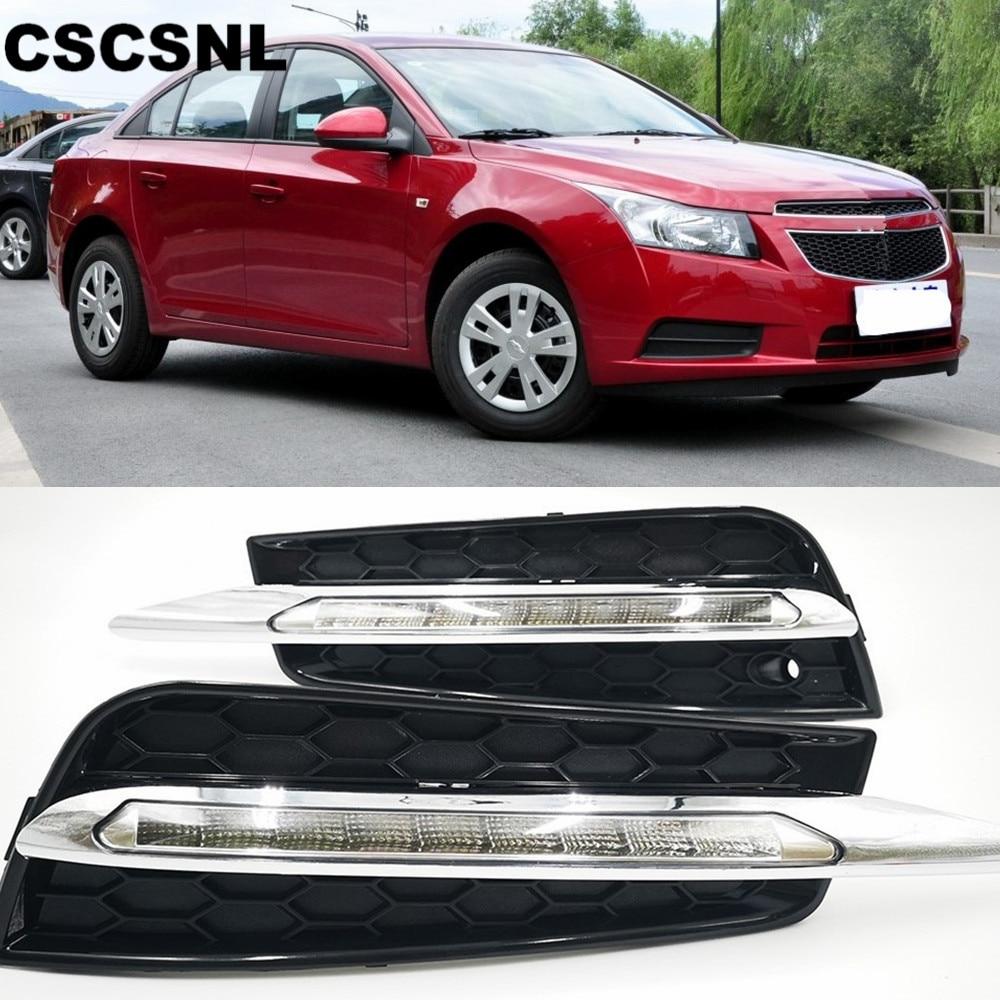 CSCSNL 2PCS For Chevrolet CRUZE 2009 2010 2011 2012 2013 2014 LED DRL Daytime Running Lights