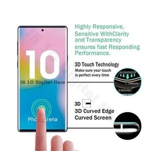 Image 2 - Vidrio templado para Samsung Galaxy note 10, Protector de pantalla con borde curvado completo, vidrio Protector para Samsung note 10 Plus + Pro 5G