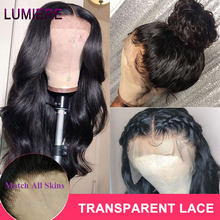Lumiere Body Wave Wig 13x4 150% Malaysian Transparent Lace Front Human Hair Wigs PrePlucked Remy Human Hair Wigs For Black Women
