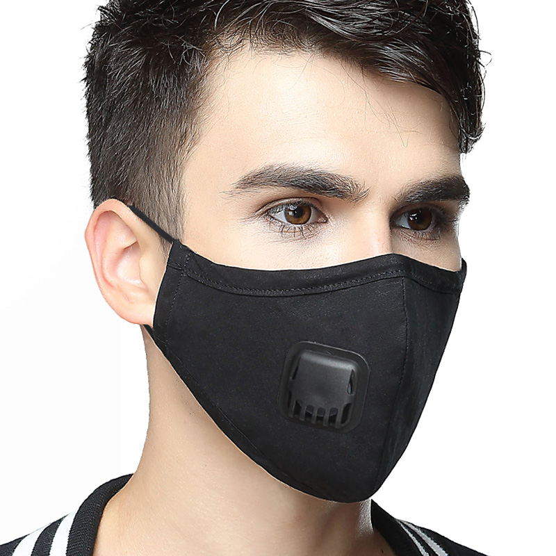 Kpop Cotton Anti Pollution Mask Korean Air Filter Mouth Face Mask KN95 Respirator Dust Mask PM2.5 5 Layers Washable Cotton Masks