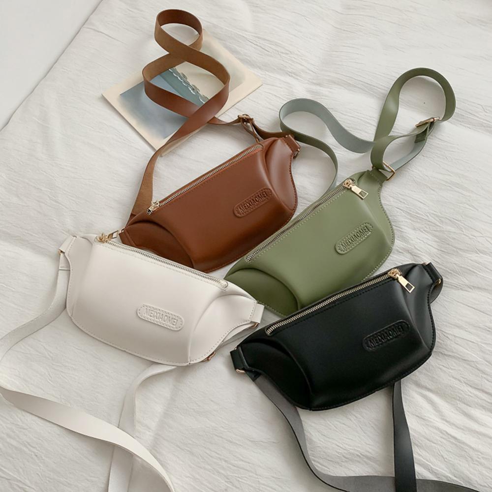 PU Waist Bags For Women Fashion Designer Fanny Pack Bolsas Women's Casual Sports Purse Package Messenger Bag Tassen Voor Vrouwen