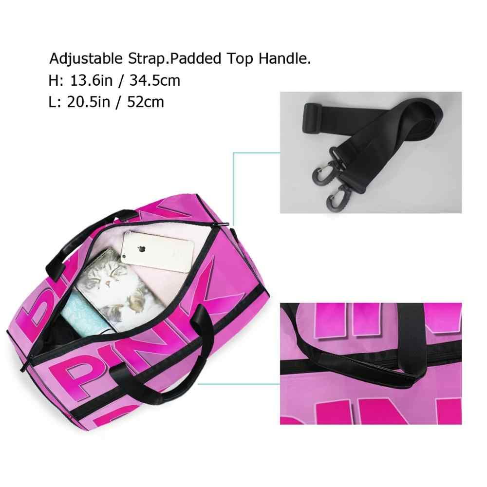 ALAZA спортивные сумки для спортзала розовый принт Женская обувь отсек водонепроницаемые спортивные сумки для фитнеса тренировка йога Bolsa Sac De sport