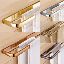 Chrome/Gold/Rose Golden/Antique/ Black Brass Wall Mounted Towel Rack Bathroom Double Towel Bar Towel Shelf Bathroom Accessories стоимость