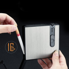 Портативный чехол для сигарет зажигалка табачная коробка 16