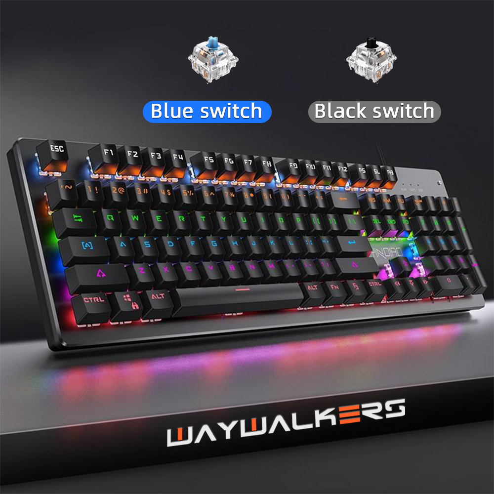 Motospeed Edition Mechanical Keyboard 87 Keys Blue Switch Gaming Keyboards For Tablet Desktop Computer Russian Sticker Leather Bag