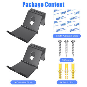 Image 5 - OIVO 2 Pack Wall Mount Game Controller Stand Holder for PS4 Controller Headphone Holder Universal Foldable Design Gamepad Holder