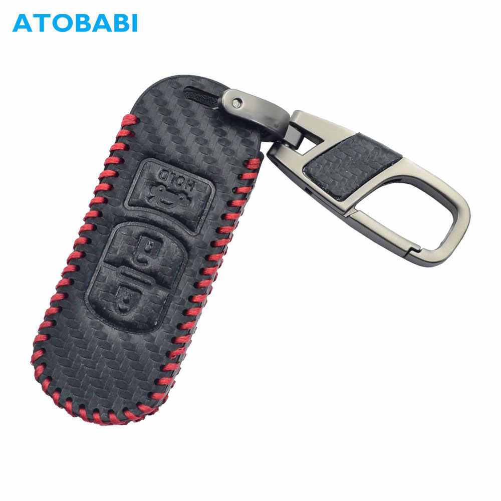 Red for Mazda 1 Pcs UUUU Car Keychain Accessories with Alloy Metal and Red Genuine Leather Suit for Mazda Cx7 Cx5 Cx9 Cx-5 Cx3 Mx-5 Protege Valet Rotary Rx8 Series Present for Women and Men
