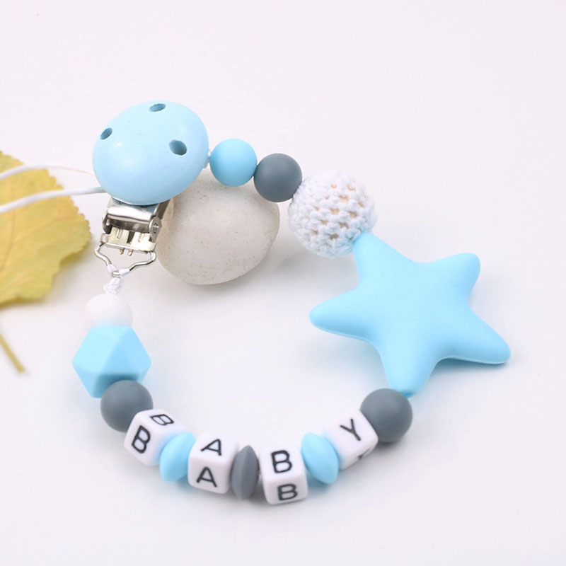 Personalised Name Silicone Baby Pacifier Clips Chain Nipple Pacifier Chain Holder Infant Feeding Teether Gifts