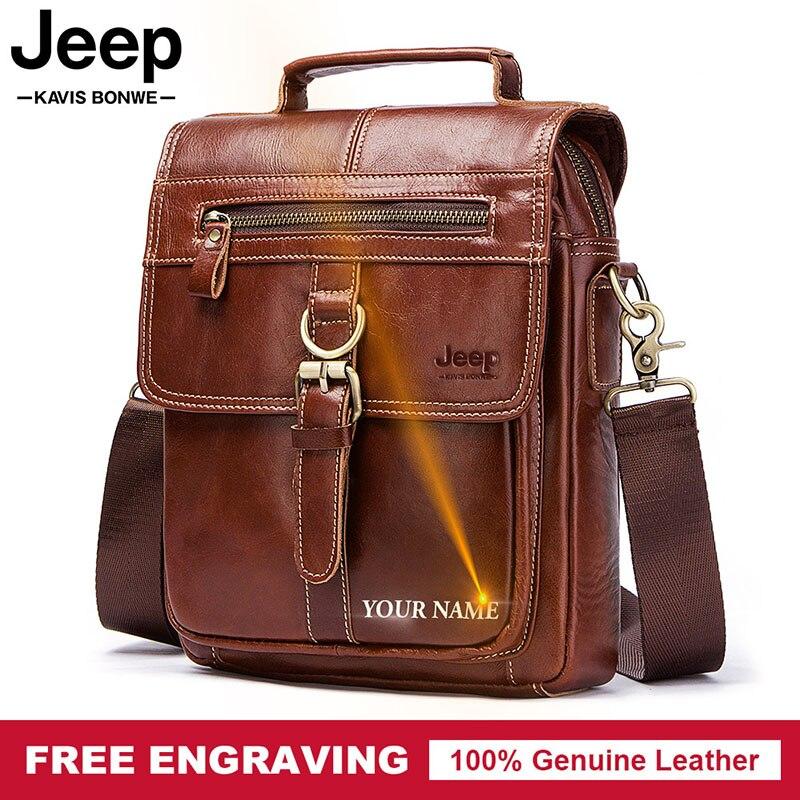 Famous Brand Genuine Leather Shoulder Bag Men Messenger Bags Handbag Busines Bolsas Travel Brand Crossbody Bag For Ipad Tote
