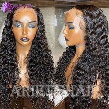 Perruque Lace Front Wig péruvienne Remy naturelle, cheveux ondulés, 13x4, 28/30 pouces, pre-plucked, avec Baby Hair, densité 150%